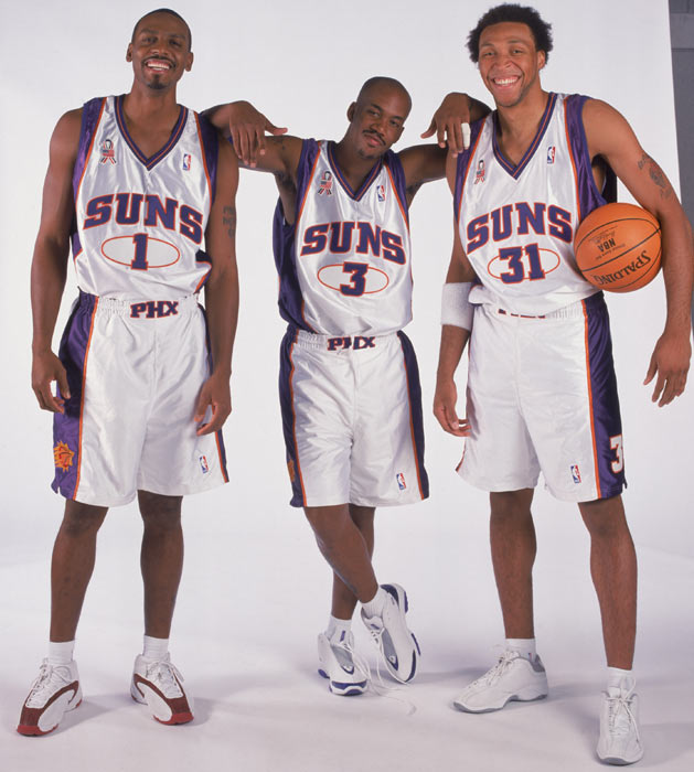 Hardaway alongside Starbury & The Matrix in the 2001 Phoenix Suns White jersey