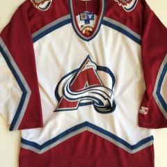 vintage deadstock colorado avalanche starter hockey jersey