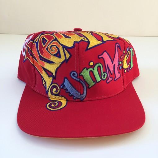 vintage the game big logo coca cola red hot summer snapback hat