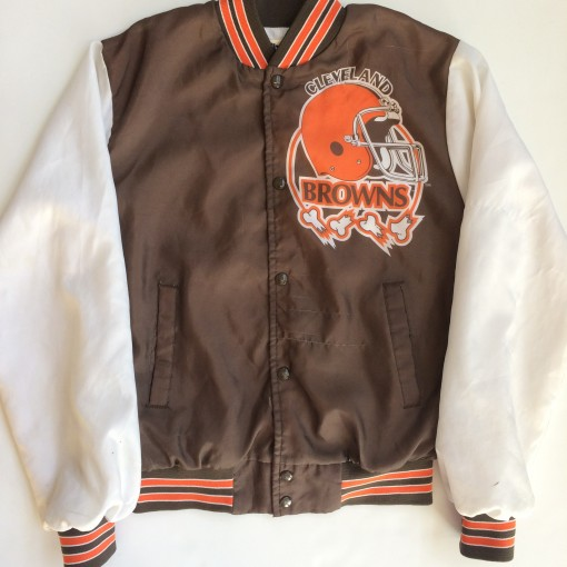 vintage cleveland browns chalkline fanimation jacket