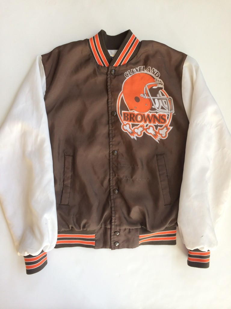 bc4e5c5d Vintage Cleveland Browns Chalkline NFL Fanimation Jacket Size Small