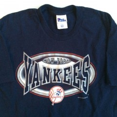 vintage 90's new york yankees pro player mlb shirt