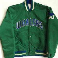 vintage hartford whalers starter nhl satin jacket medium
