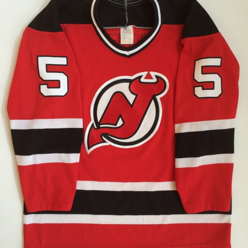 vintage new jersey devils nhl hockey jersey