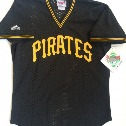 vintage pittsburgh pirates barry bonds authentic majestic throwback jersey