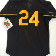 #24 Barry Bonds pittsburgh pirates authentic mlb throwback jersey