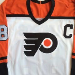front of vintage throwback flyers jersey