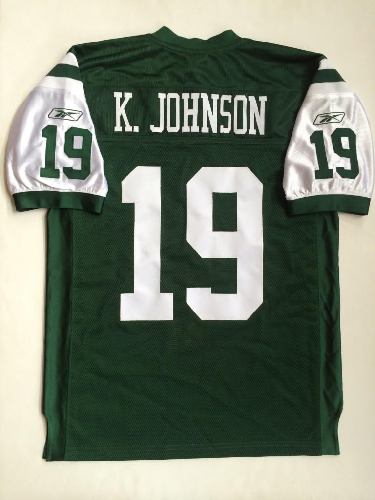 official photos 86743 35dc3 2000 Keyshawn Johnson New York Jets Authentic Reebok NFL Jersey