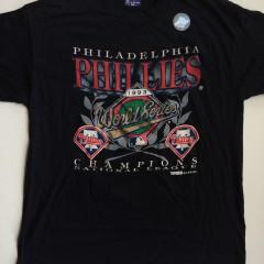 vintage 1993 philadelphia phillies NL champions jersey size xl