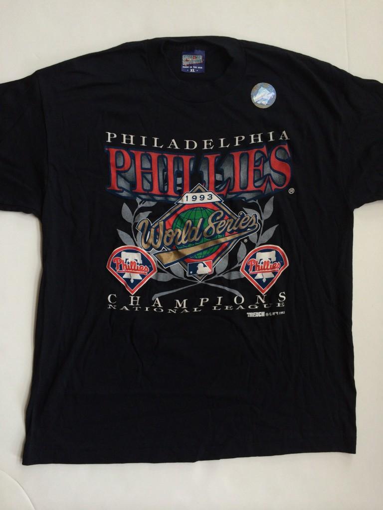 d0559a0bc ... world series t shirt. vintage 1993 philadelphia phillies NL champions  jersey size xl
