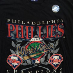 Vintage 1993 philadelphia phillies nl champion world series t shirt