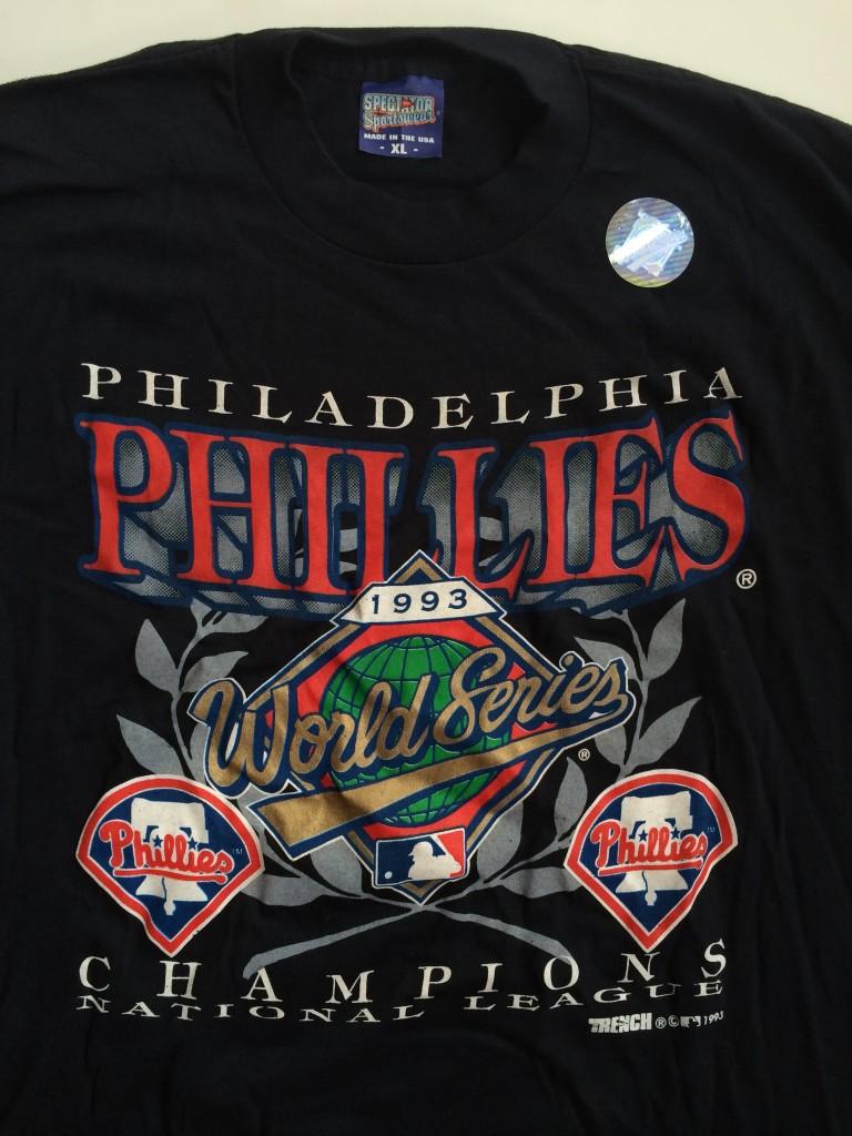db79bb45e Vintage 1993 philadelphia phillies nl champion world series t shirt