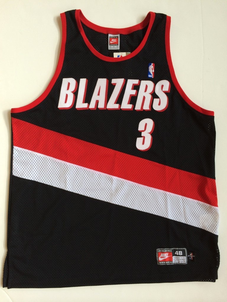 official photos 09f12 7ea9d 1998 Damon Stoudamire Portland Trailblazers Authentic Nike NBA Jersey Size  48