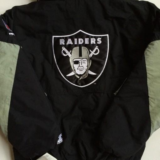 throwback oakland raiders starter jacket