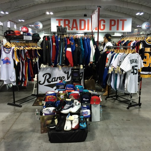 rare vntg x creative players vintage clothing set up at sneaker con nyc 2014