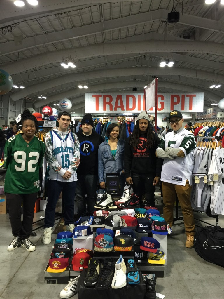 Rare VNTG Refresh PGH Creative players set up at sneaker con new york 2014