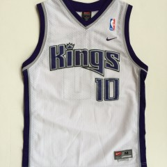 vintage mike bibby sacramento kings nike swingman nba jersey youth medium