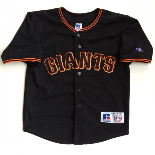 vintage san francisco giants barry bonds russell mlb jersey youth medium