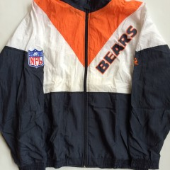 vintage chicago bears apex one nfl windbreaker jacket