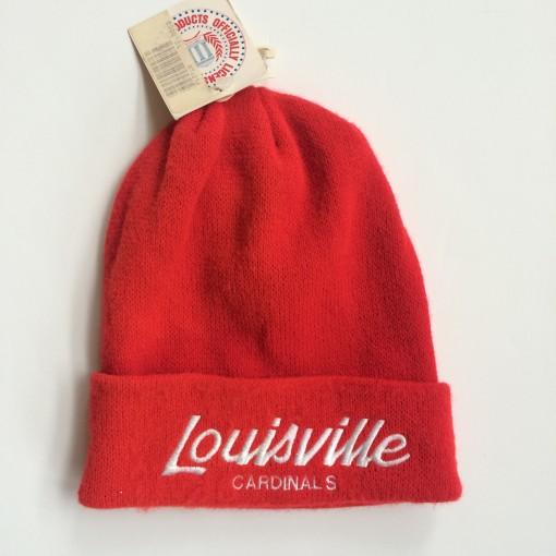 vintage louisville cardinals script sports specialties ncaa beanie hat
