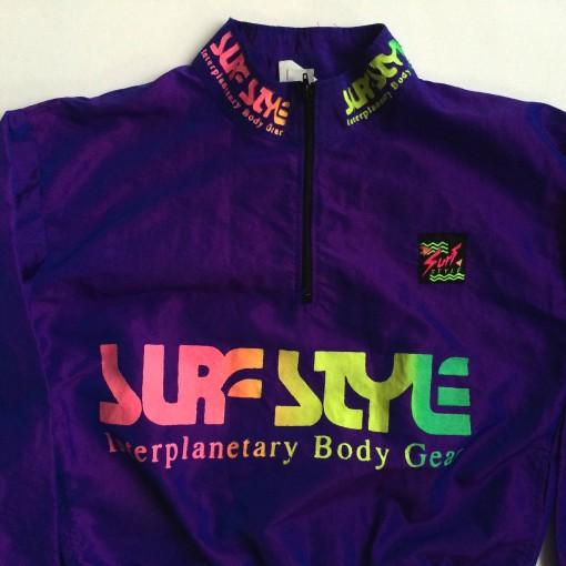 vintage youth surf style windbreaker jacket purple