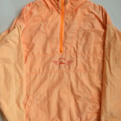 vintage reebok the pump windbreaker jacket size xl orange