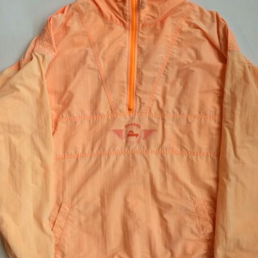 vintage reebok the pump windbreaker jacket size xl orange