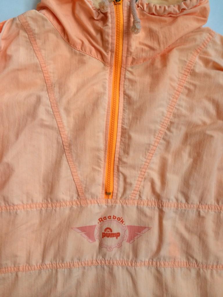 f1cb4c6bc36b7c Vintage Reebok Sport The Pump Quarter Zip Jacket Orange Size XL ...