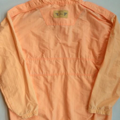 vintage reebok the pump quarter zip windbreaker jacket orange