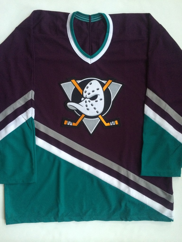 vintage Anaheim mighty ducks throwback disney nhl jersey size large 392f29657