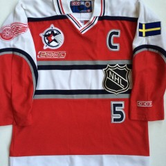 2000 World NHL All Star jersey ccm niklas lidstrom redwings