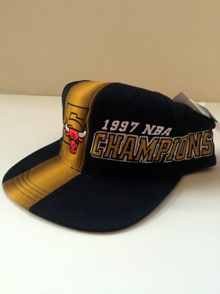 a9c3f03bdb3 ... 5 time nba champions sports specialties snapback hat vintage deadstock. 1997  NBA Champions Chicago Bulls snapback hat