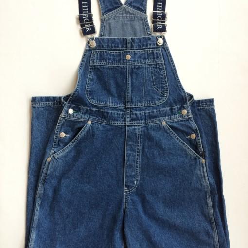 vintage tommy hilfiger denim overalls size small