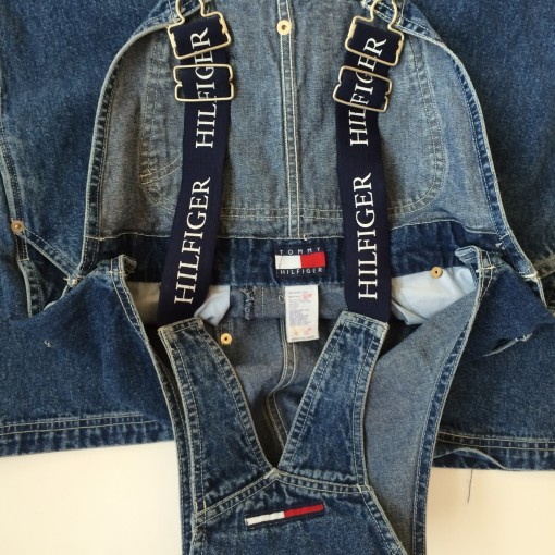 rare early 90's tommy hilfiger overalls small