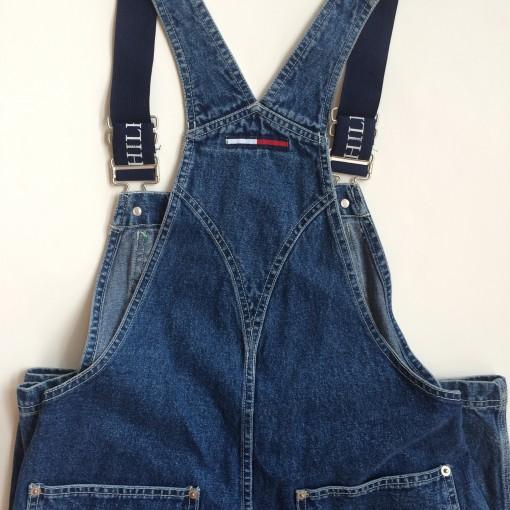 vintage tommy hilfiger denim overalls small petite