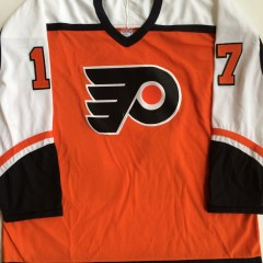 rod brind'amour philadelphia flyers vintage orange jersey xl