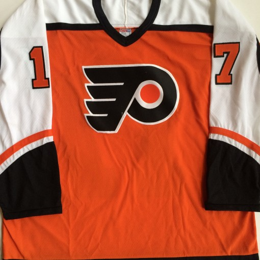 rod brind'amour philadelphia flyers vintage orange jersey xl