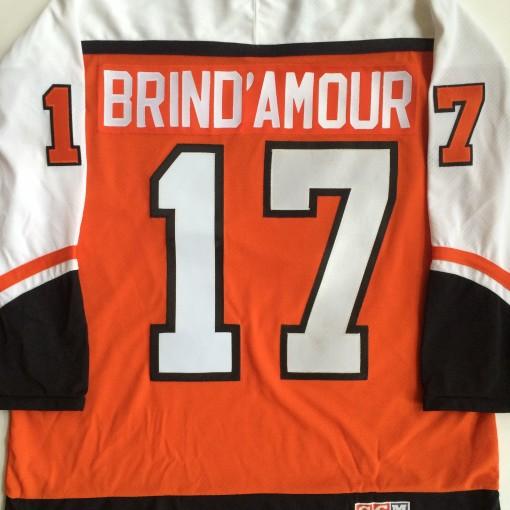 rod brind'amour vintage Philadelphia flyers orange jersey