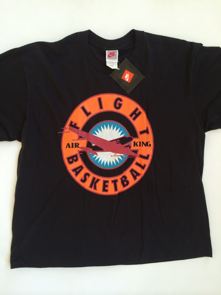 Vintage 90 s Nike Air King Basketball Shirt Black T Shirt Size Large ... 9762d43f3