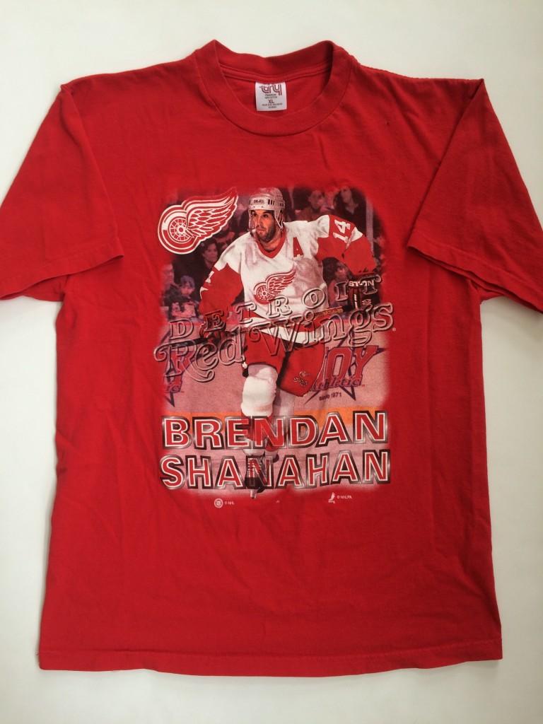 vintage brendan shanahan Detroit Redwings nhl vintage t shirt