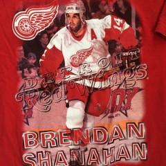 vintage 90's brendan shanahan redwings t shirt