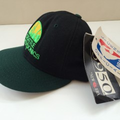 vintage new era 5950 seattle supersonics fitted hat size 7