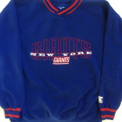 vintage 90's new york giants starter crew neck sweatshirt