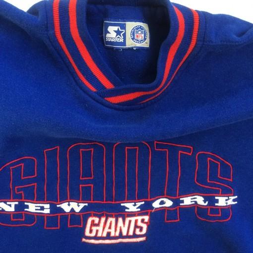vintage new york giants starter crew neck sweatshirt