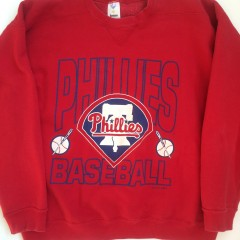 vintage 1992 philadelphia phillies mlb crewbeck sweatshirt