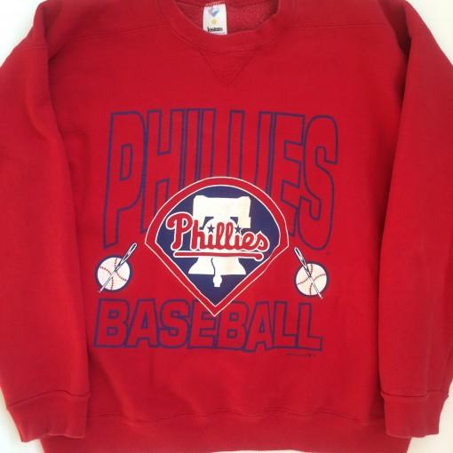 vintage 1992 philadelphia phillies mlb crewbeck sweatshirt