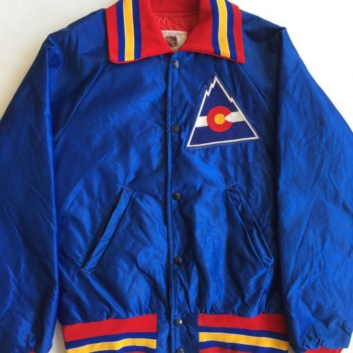 vintage colorado rockies nhl satin jacket starter