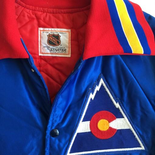 vintage starter colorado rockies satin nhl jacket