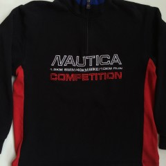 vintage nautica Competition quarter zip fleece pullover triathlon