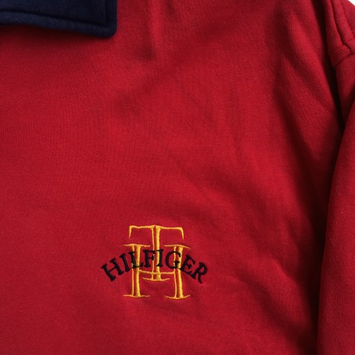 vintage 90's Tommy hilfiger rugby shirt medium for sale